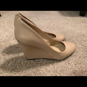 Nude wedge shoes - excellent condition.